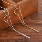 Long Fashion Simple Necklace Gold Plated Sweater Chain Pendant Jewelry Tr