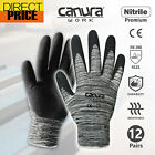 12 Pairs Safety Work Gloves Sandy Nitrile Foam Hand Protection General Purpose
