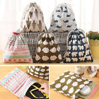 New Home Travel Linen Laundry Pouch Tote Drawstring Storage Bag Organizer