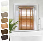 50mm Faux Wood Venetian Blinds With Tapes - Made To Measure - Fast Free Samples