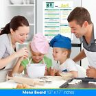 "13 x 17"" Wet or Dry Erase Magnetic Menu & Groceries Planner Laminated Organizer"