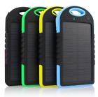 5000mAh Dual USB Waterproof Solar Power Bank Battery Charger for Stall Phone
