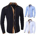 Mens Casual Button Slim Fit Long Sleeve Shirt Camisa Masculina Dress Shirts
