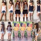 2PCS Toddler Kids Baby Girl Summer Clothes T-shirt Tops+Pants/Shorts Set Outfits