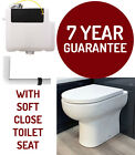 Concealed Cistern With Back To Wall Toilet WC Pan Dual Flush Side Enrty Inc Seat