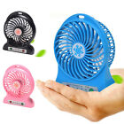 Small Desktop USB Mni Portable Fan Chargeable Battery Powered Mini Fan with Nigh
