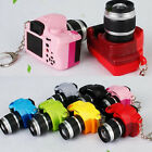 1PC Mini Camera Keyring with LED Light Flashlight Sound Charm Keychain Coolest