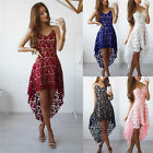 Fashion Women Summer Sleeveless Evening Party Cocktail Short Mini Lace Dress