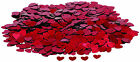 4 x 14 gram RED HEART table confetti MORE COLOURS AVAILABLE