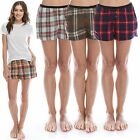 "TINFL Plaid Check Flannel Lounge Womens Short Pajama Pants ""WSP 16style"" S-XL"