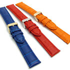 Extra Long XL Leather Watch Band 18mm - 24mm Coloured Padded Croc Grain C013