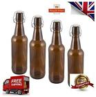 500ml Grolsh Amber Swing/Flip Top - 500ml Grolsh Style Beer Bottles x 8
