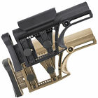 Precision Rifle Fixed Stock w/ Adjustable Cheek-Rest & Shoulder Pad 5.56/223/308