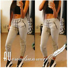 Fashion Women Cotton Sports Pants Zipper Casual Workout Trousers Plus Size 6-14