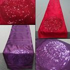 Revolution Sparkle Glitter Table Runner Party Wedding Faux Silk Table Decoration