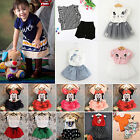 Newborn Kid Baby Girl Outfit Clothes Shirt Top+ Mini Skirt Dress 2PCS Set Plenty