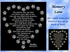 PERSONALIZED PET MEMORIAL POEM NAME PLATE Several Sizes & Poem Choices DOG CAT