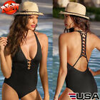 Monokini Women Bandage Bikini Swimsuit One Piece Swimwear Beachwear Bathing Suit