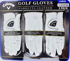 Callaway Mens Golf Gloves Premium Cabretta Leather Size Large 3 2 or 1 Gloves