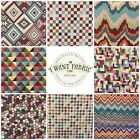 World of Aztec Bright Tapestry Geometric Pattern Upholstery Curtain Fabric