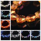 16x14mm Charms Faceted Glass Crystal Hexagon Findings Loose Spacer Beads DIY