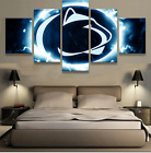 5 Pcs Penn State Nittany Lions Painting HD Printed on Canvas Wall Art Home Décor