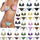 Women Bra Bikini Set Tie Side Girl Triangle Swimsuit Bathing Suit Swimwear