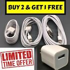 Lot New Apple Iphone 7 6s 6 Plus 5s 1m 2m 3m Lightning Cable + Charger Adapter
