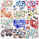 10pcs 20mm Glass Charms DIY Jewelry Findings Oblate Lampwork Loose Spacer Beads