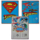 DC COMICS PERPETUAL CALENDARS Metal Plaques Super Heroes Cool Calenders