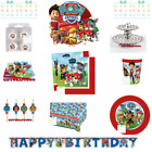 PAW PATROL PARTY SUPPLIES! CUPS PLATES TABLECLOTH NAPKINS INVITES BANNER LOTS!!