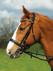 NEW Rhinegold Italian Leather Anatomical Diamante Horse Bridle Cavesson Noseband