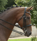 NEW Rhinegold Italian Leather Anatomical Crystal Horse Double Bridle inc Reins