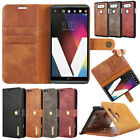 Genuine Real Leather Case Removable Magnetic Card Flip Stand Cover For LG G6 V20