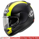 """Arai Chaser V """"Base Flo Yellow"""" Was £399.99 - Now £289   (25% OFF!)"""