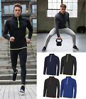 AWDis Mens Half Zip Sweat Top - Slim CoolFit Performance UPF30+ Stretch Fabric