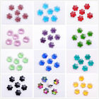 14mm Glass Crystal Snowflake Charms Loose Beads Findings Faceted Pendants