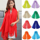 UP Women Long Candy Colors Soft Cotton Scarf Wrap Shawl Scarves Fashion Stole