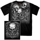 NEW Hot Leathers Tri Skull Skulls Motorcycle Biker Metal Rock T Shirt M-3XL