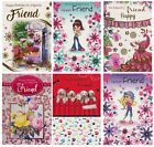 FEMALE  FRIEND BIRTHDAY CARD VARIOUS DESIGNS 1ST P&P SPECIAL FRIEND JUST FOR YOU