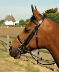 Heritage English Leather Horse Pony Bridle With Padded Raised Cavesson Noseband