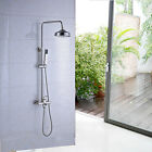 Brushed Nickel Shower Faucet 8''Rainfall Shower Head With Hand Shower Mixer Taps