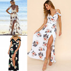 UK Fashion Womens Summer Sexy Sleeveless Floral Dress Casual Long Maxi Dresses