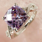 Womens Tourmaline White Topaz Gemstone Silver Jewelry Wedding Ring Size 6 7 8 9