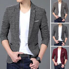 Fashion Men Slim Fit Formal One Button Suit Business Blazer Coat Jacket Tops New