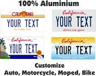 California License Tag Plate Personalized Custom Car Auto Bike Moped Motorcycle