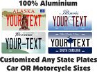 Any State Any Text License Plate Personalized Custom Auto Car Motorcycle Tag