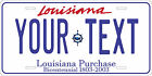 Louisiana 2002 License Plate Personalized Custom Car Bike Motorcycle Moped Tag