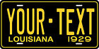 Louisiana 1929 License Plate Personalized Custom Car Bike Motorcycle Moped Tag