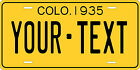 Colorado 1935 License Plate Personalized Custom Car Bike Motorcycle Moped Tag